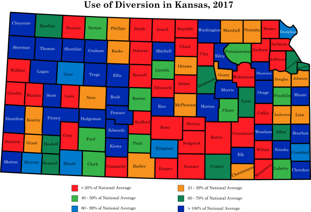 2017 Map Diversion use by county WEB