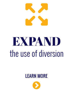 Expand the use of diversion.